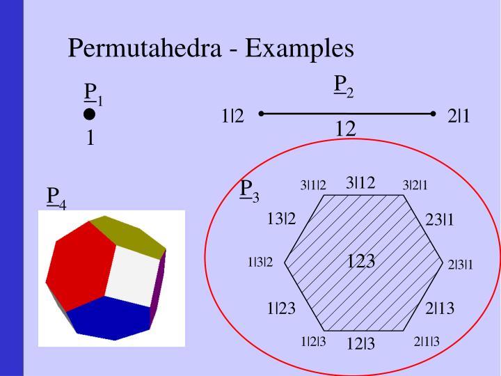 Permutahedra - Examples