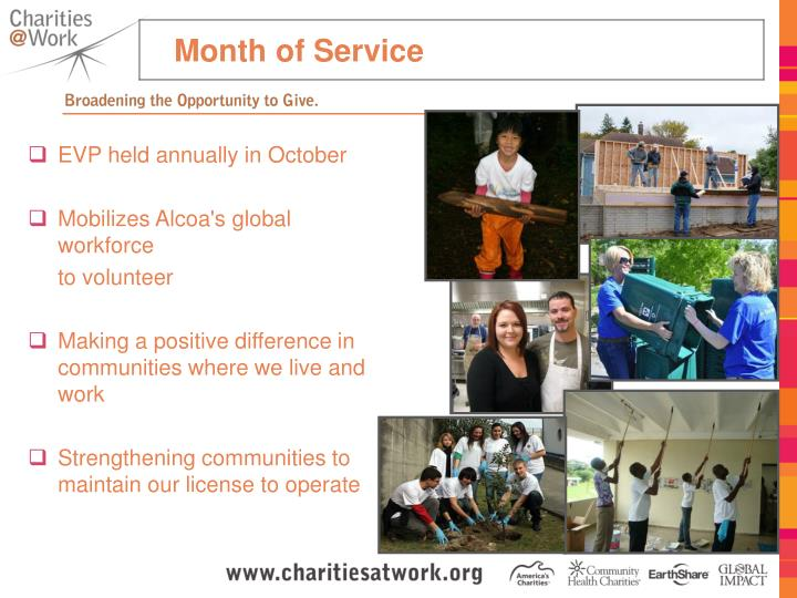 Month of Service
