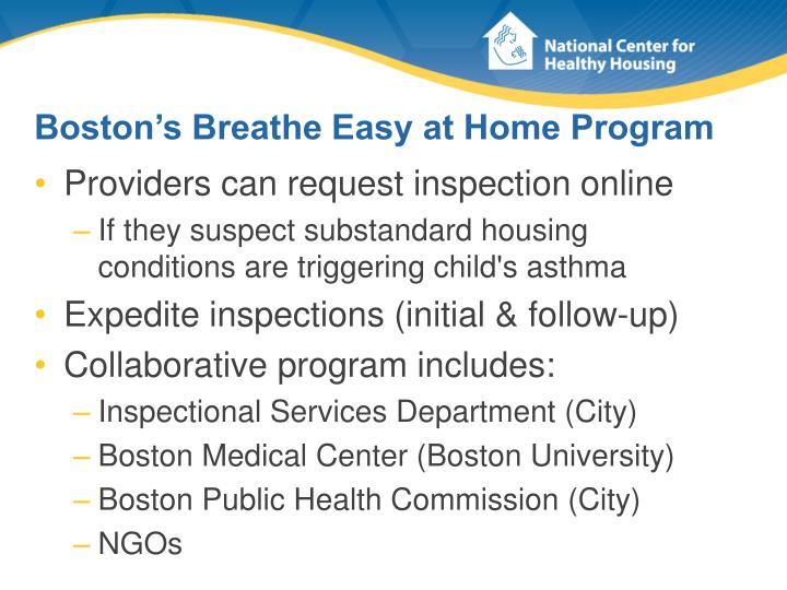 Boston's Breathe Easy at Home Program