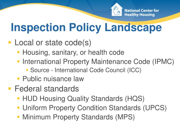 Inspection policy landscape