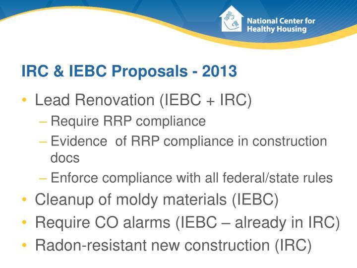 IRC & IEBC Proposals - 2013