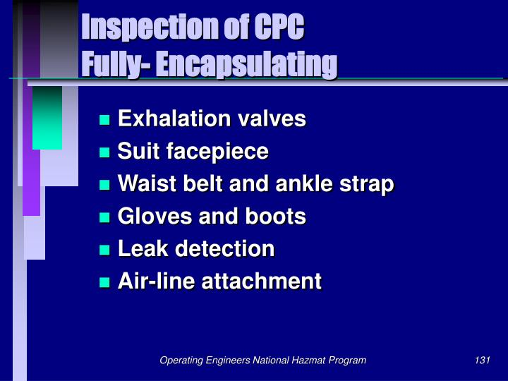 Inspection of CPC