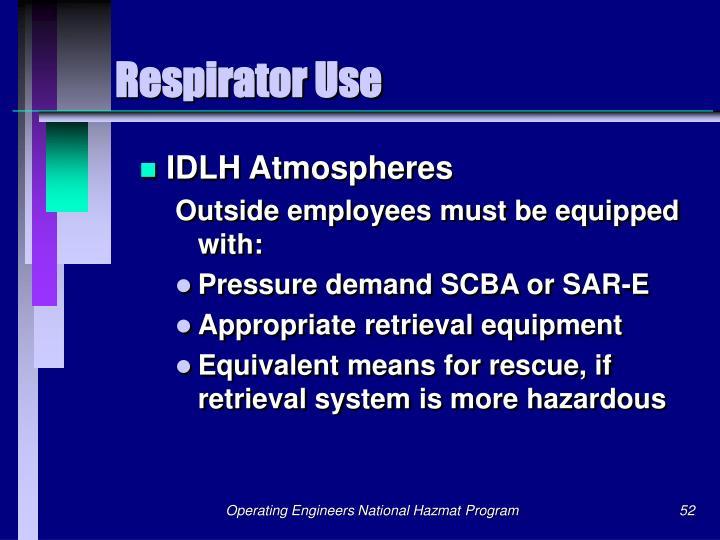 Respirator Use