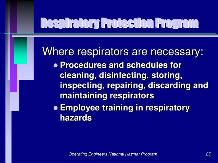 Respiratory Protection Program