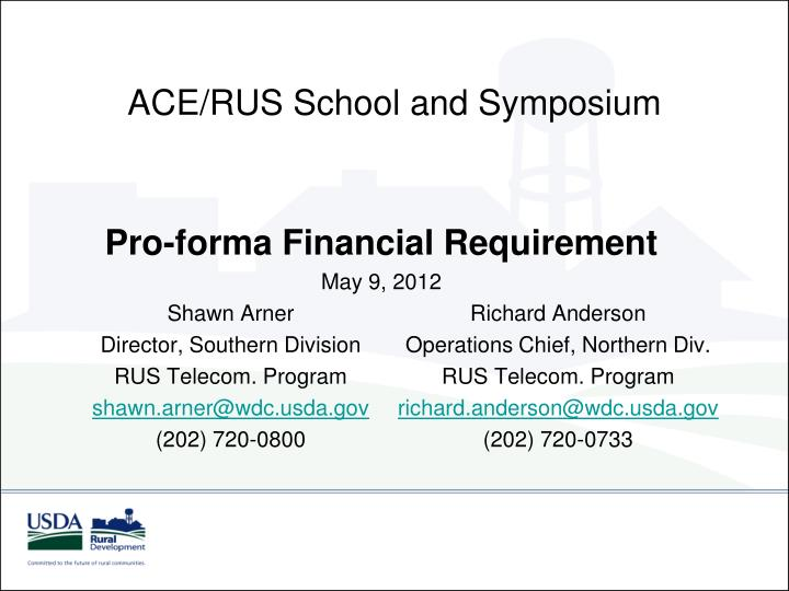 Ace rus school and symposium
