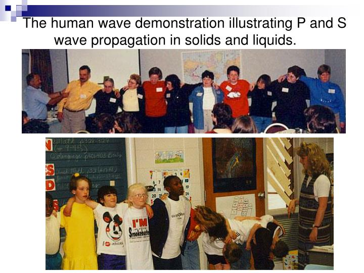 The human wave demonstration illustrating P and S