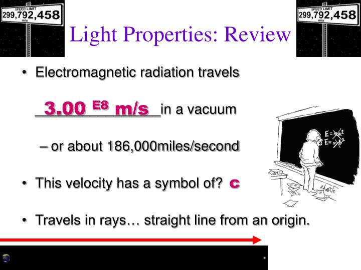 Light Properties: Review