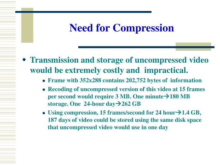Need for compression