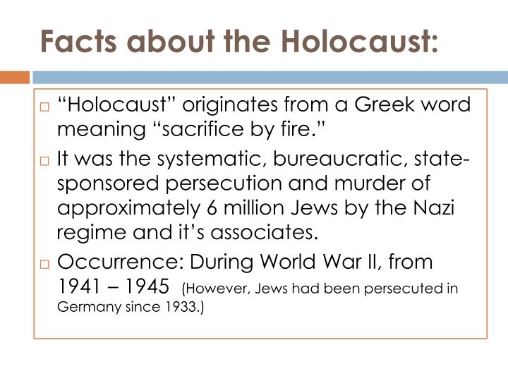 Facts about the Holocaust:
