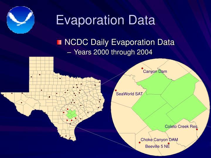 Evaporation Data