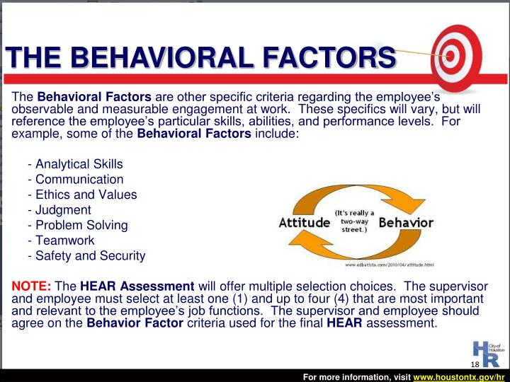 THE BEHAVIORAL FACTORS
