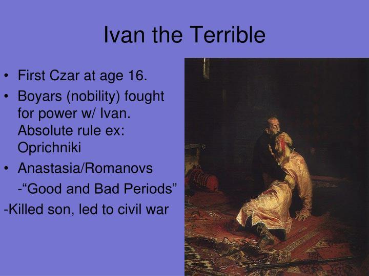 Ivan the terrible essay topics