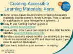 creating accessible learning materials xerte
