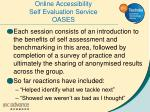 online accessibility self evaluation service oases