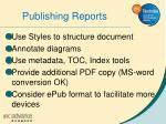 publishing reports