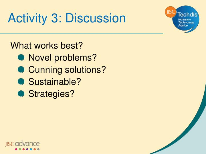 Activity 3: Discussion