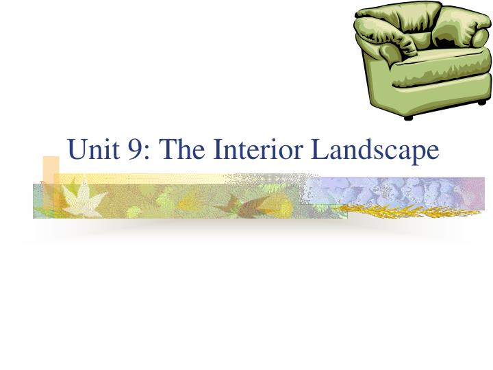 Unit 9 the interior landscape
