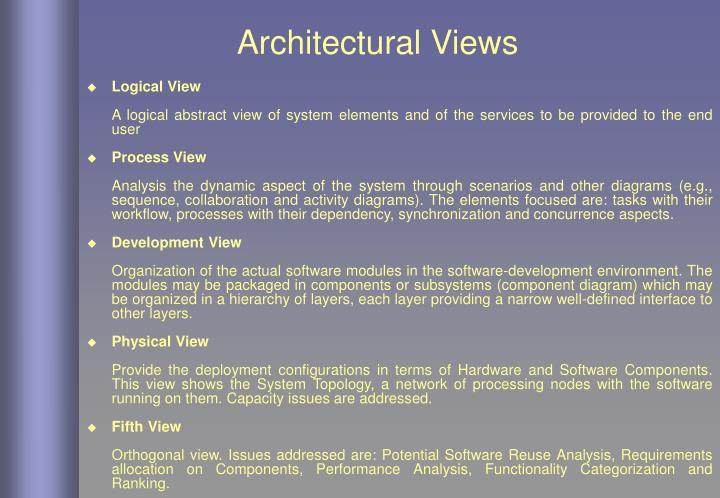 Architectural Views