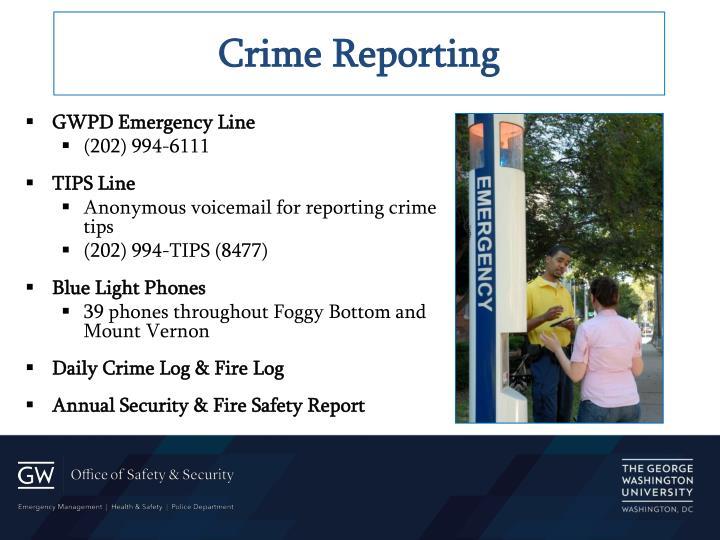 Crime Reporting