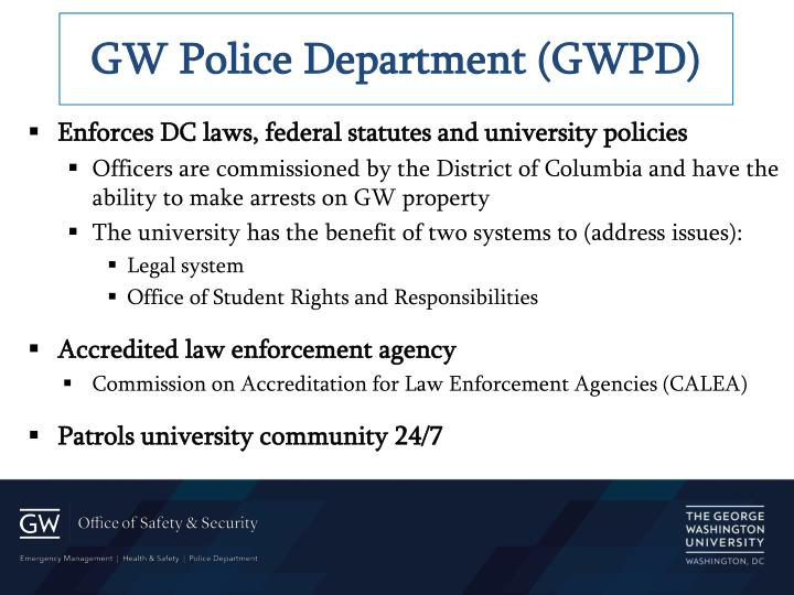 GW Police Department (GWPD)