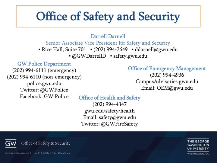 Office of Safety and Security