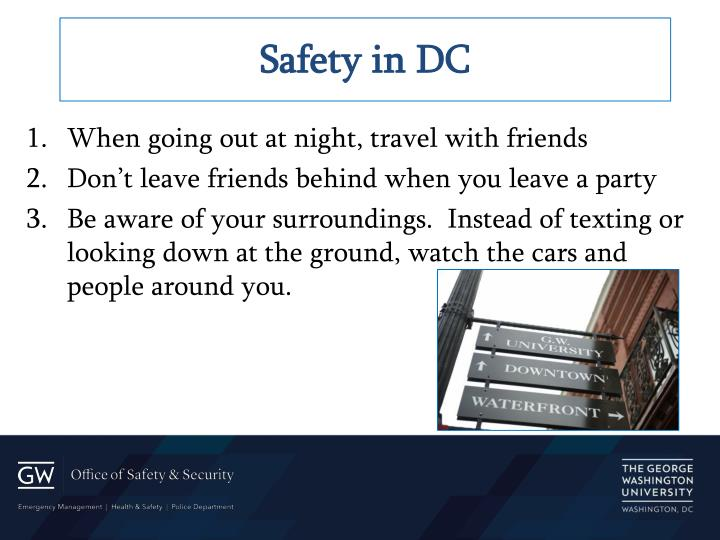 Safety in DC