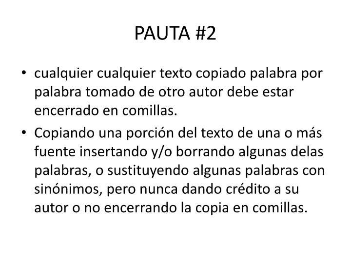 PAUTA #2