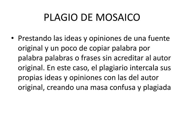 PLAGIO DE MOSAICO