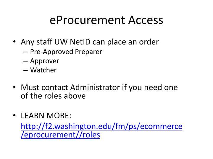 eProcurement Access