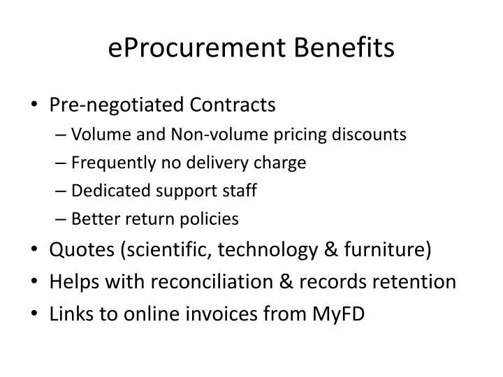 eProcurement Benefits