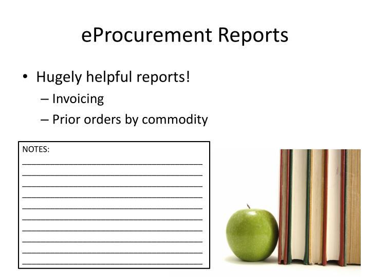 eProcurement Reports