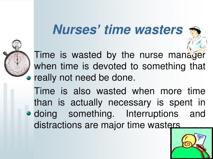 Nurses' time wasters