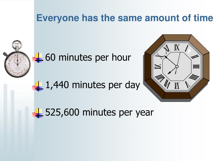 Everyone has the same amount of time