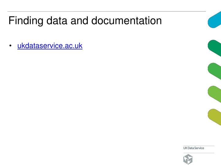 Finding data and documentation
