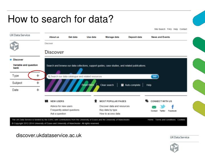 How to search for data?