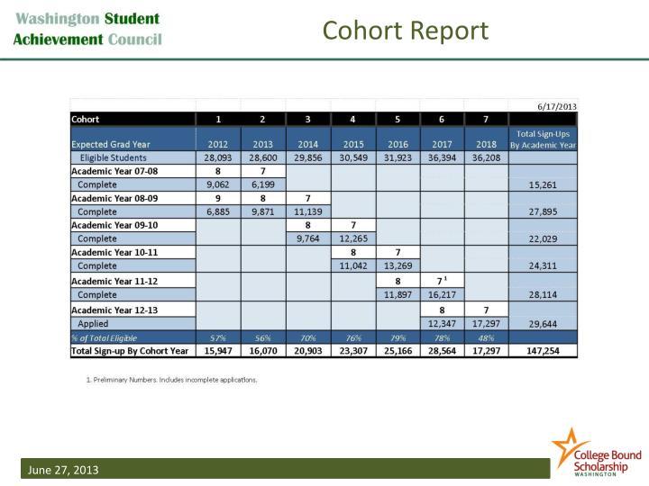 Cohort Report