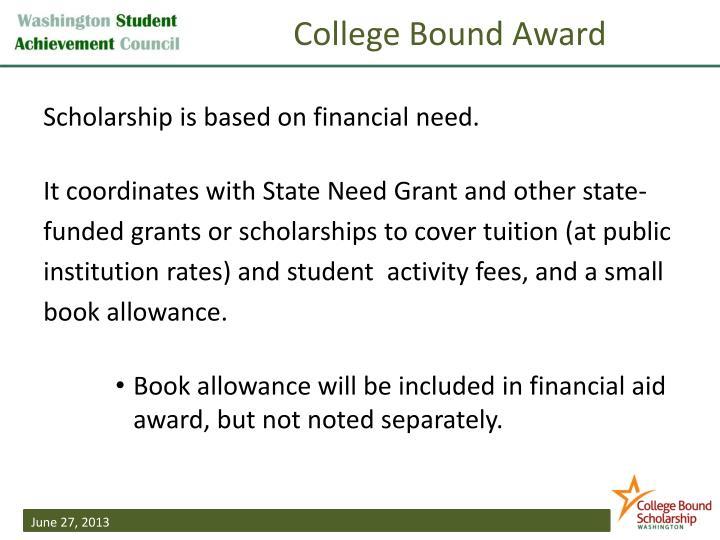 College Bound Award