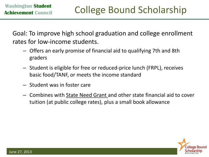 College Bound Scholarship