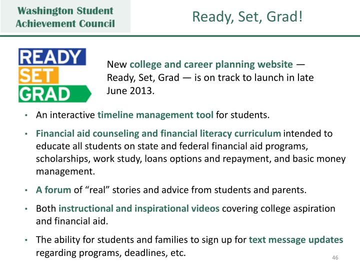 Ready, Set, Grad!