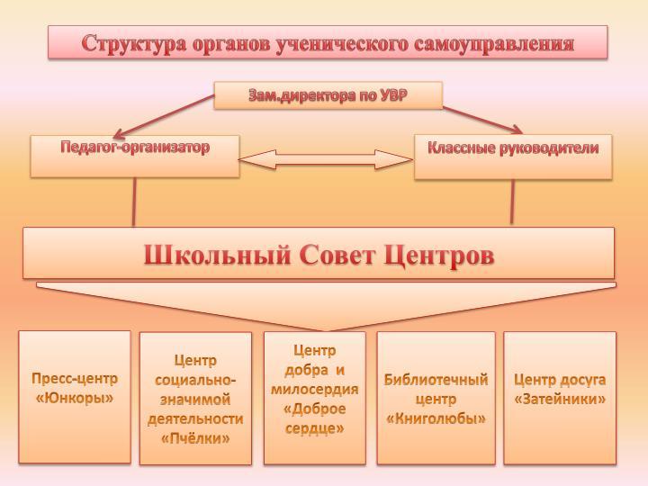Структура органов ученического самоуправления