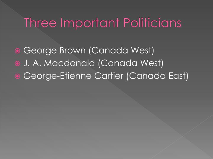 Three Important Politicians