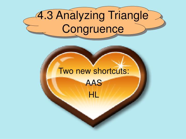 4.3 Analyzing Triangle Congruence