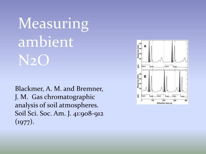 Measuring ambient N2O