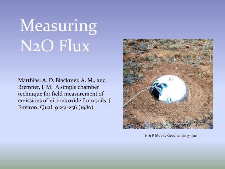 Measuring N2O Flux