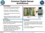 common digital sensor architecture