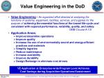 value engineering in the dod