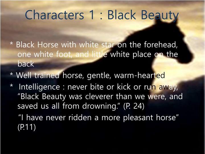 Characters 1 : Black Beauty