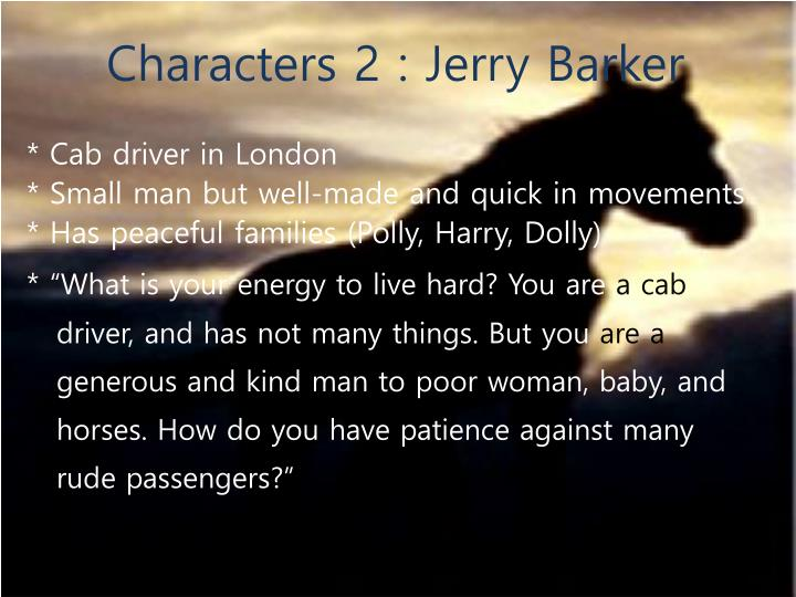 Characters 2 : Jerry Barker