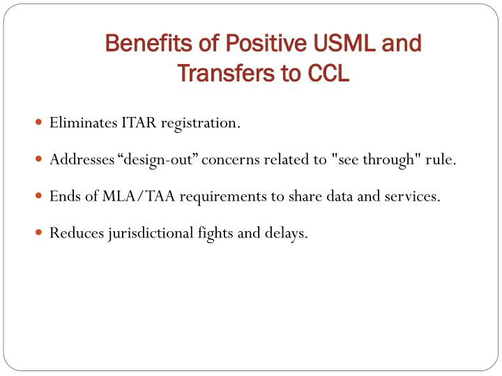 Benefits of Positive USML