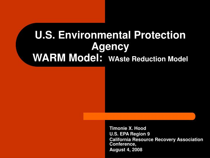 U s environmental protection agency warm model waste reduction model